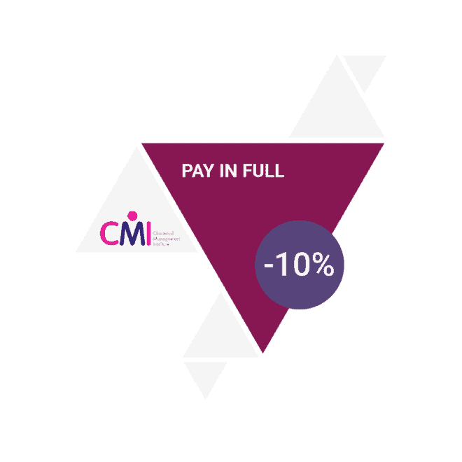 CMI course pay in full 10 off